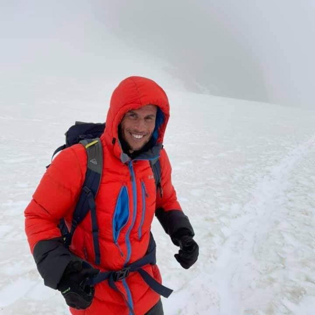 Morad, adhérent APF France handicap, lors de son ascension du Mont Blanc