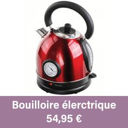 Offrez une bouilloire rouge et noire, sans fil intégré de son thermomètre.