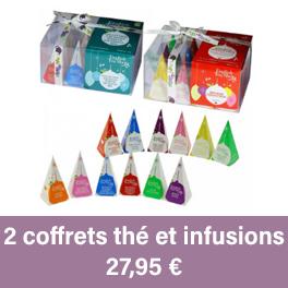 coffret d'infusions de thé