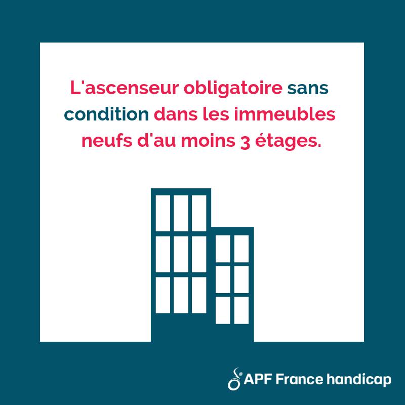 accessibilité des logements : l'ascenseur obligatoire dans les immeubles de trois étages et plus