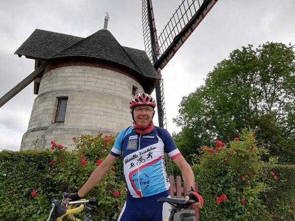 Tour de France de Claude Porquet à vélo pour APF France handicap