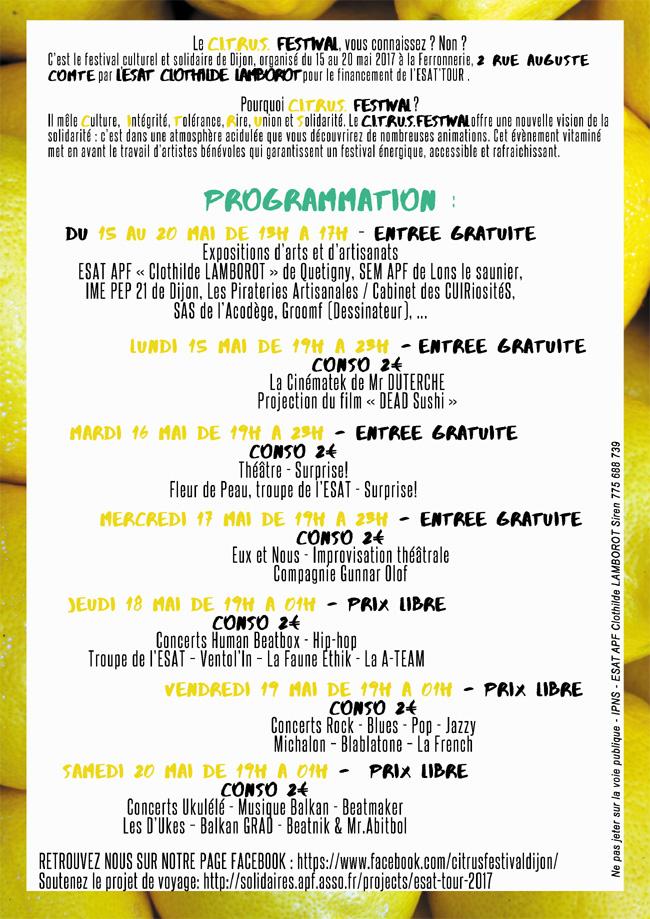 programme citrus festival
