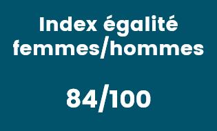 Index égalité femmes/hommes 84/100