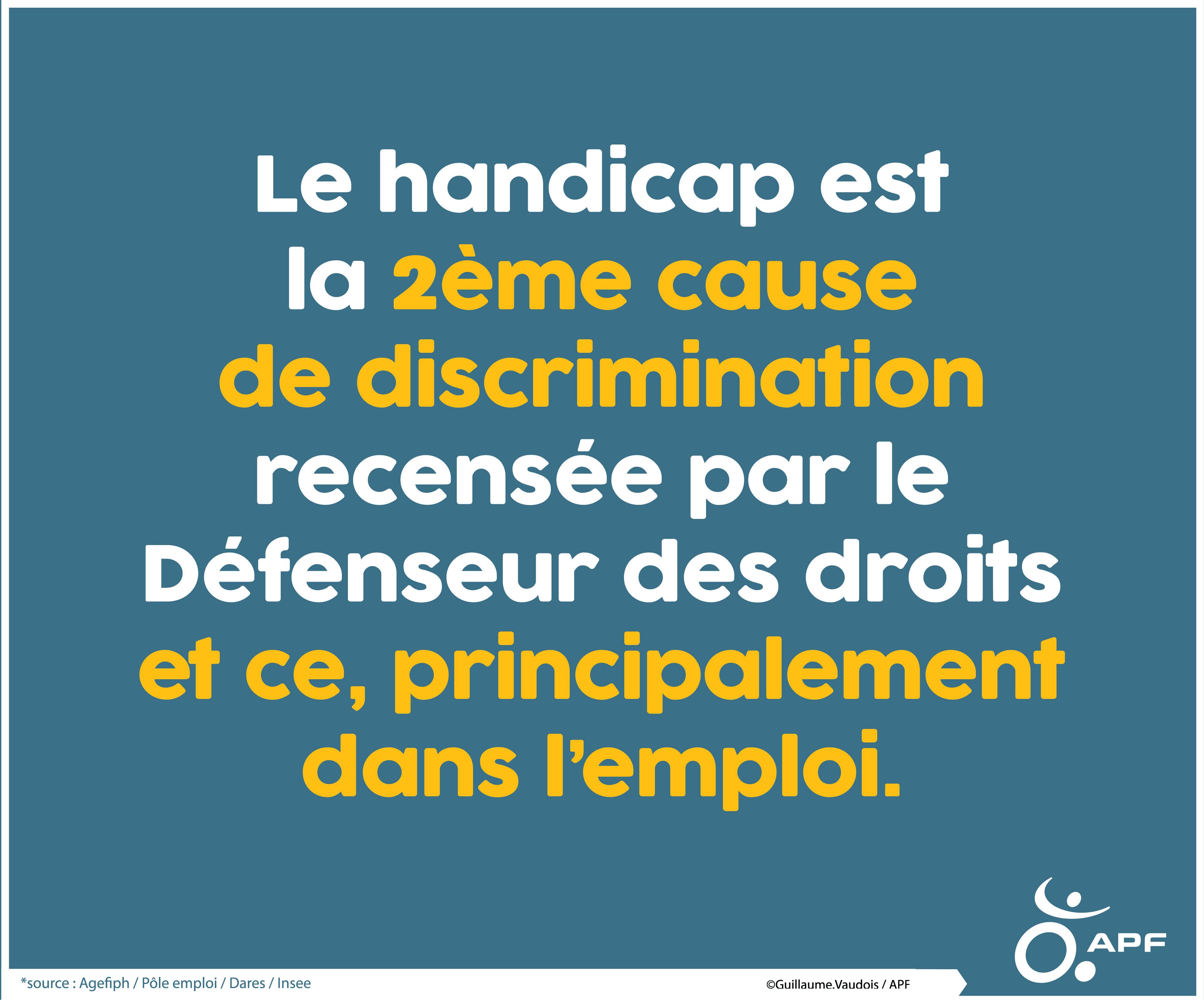 Handicap : discrimination dans l'emploi