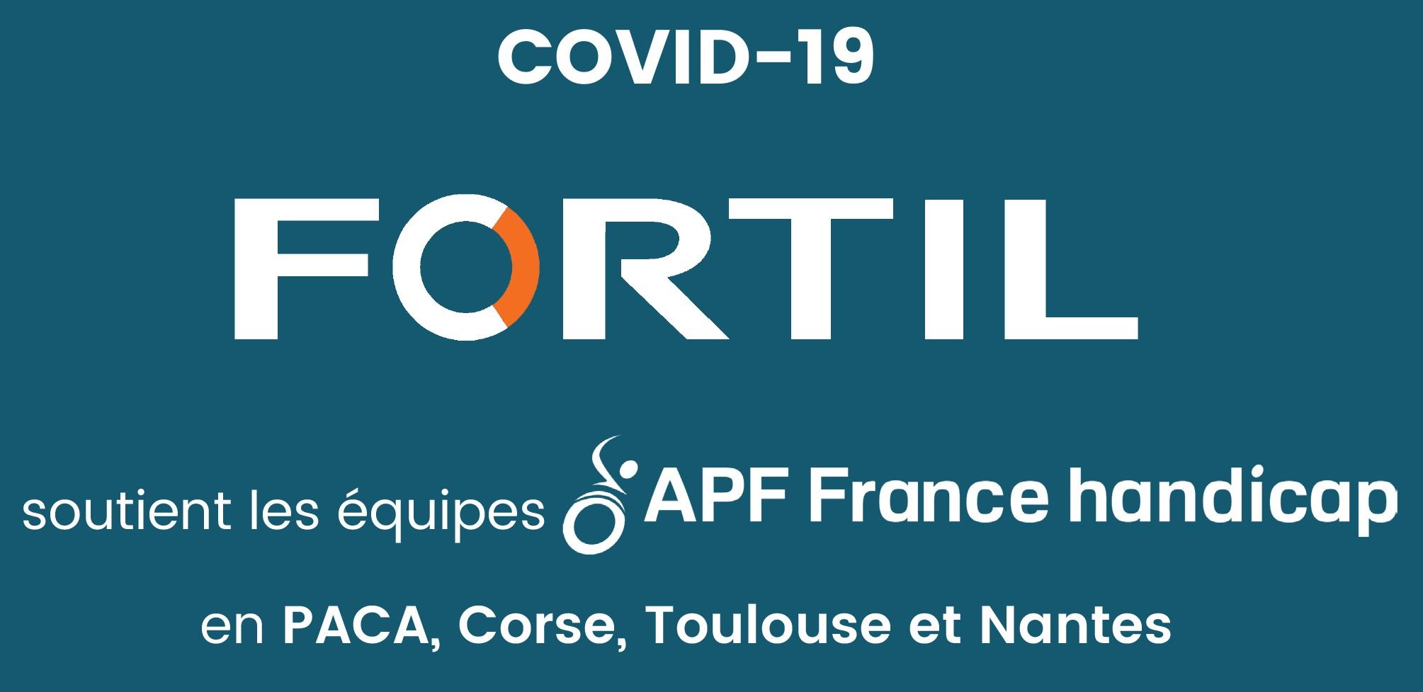 Le groupe FORTIL soutient les équipes d'APF France handicap en période de Covid-19