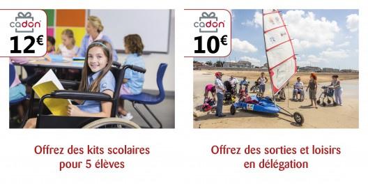 Offrez des kits scolaires, des sorties et des loisirs pour les personnes en situation de handicap