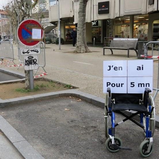 fauteuil roulant, j'en ai pour 5 min