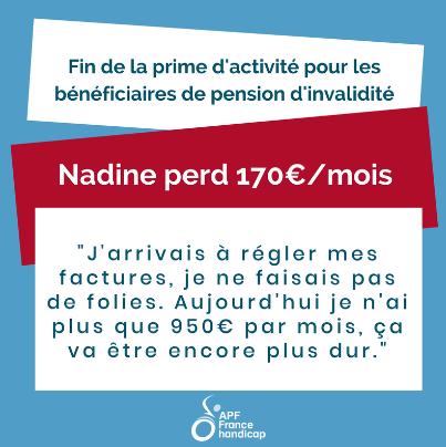 Nadine perd 170€/mois