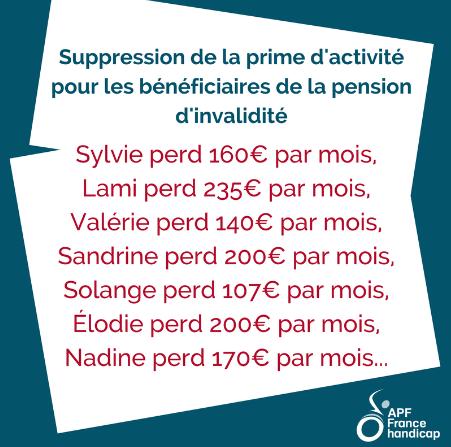 Sylvie perd 160€/mois, Lami perd 235 €/mois, Valérie perd 140€/mois, Sandrine perd 200€/mois...