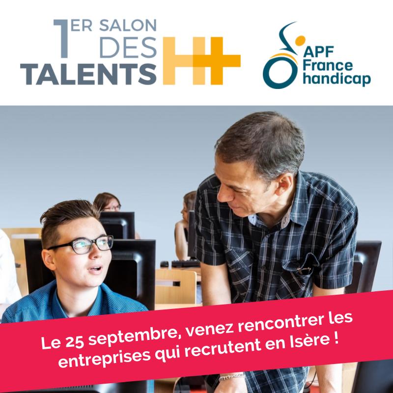 visuel emploi, recrutement et handicap au salon talents H+