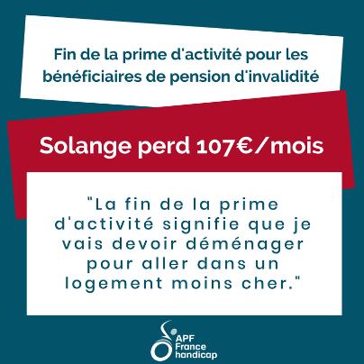 Solange perd 107€/mois