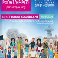 Visuel pour Forum Paris pour l'emploi / 05 et 06 octobre 2017