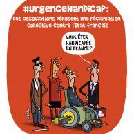 Visuel pour #UrgenceHandicap : réclamation collective pour faire condamner l'Etat français