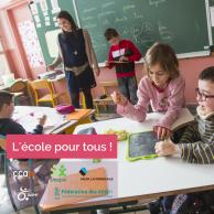 Visuel pour Sensibilisation à l'école pour tous : l'APF lance un kit