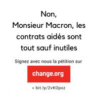 Visuel pour Baisse du nombre des contrats aidés : une pétition pour alerter le gouvernement