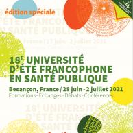 Visuel pour 18è université d'été francophone en santé publique : à vos inscriptions !