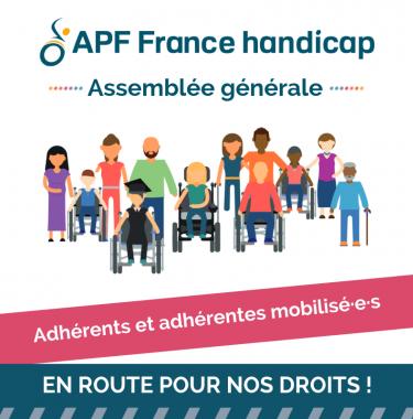 visuel adhérents et adhérentes APF France handicap
