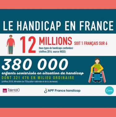 infographie sur les chiffres du handicap en France