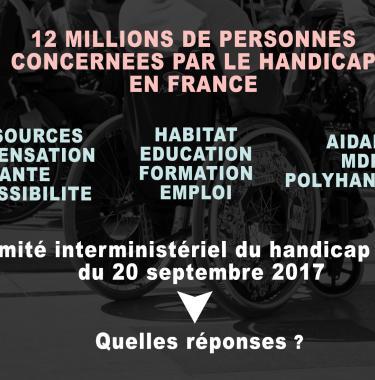 Comité interministériel du handicap du 20 septembre 2017