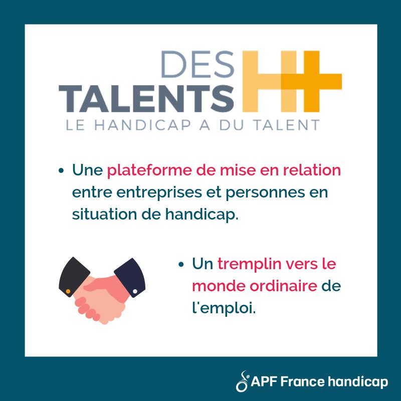 plateforme talents h+ pour l'emploi des personnes en situation de handicap