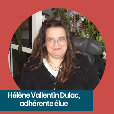 Hélène Vallentin Dulac adhérente élue APF France handicap