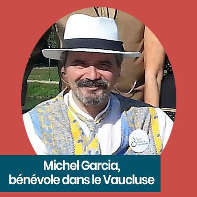Michel Garcia, bénévole APF France handicap